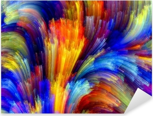 Colorful Background Pixerstick Sticker