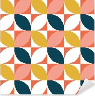 Colorful geometric seamless pattern. Mid century style. Vector background. Pixerstick Sticker