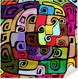 Colorful modern design Pixerstick Sticker
