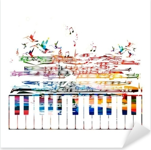 colorful music background Pixerstick Sticker