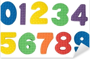 Colorful numbers Pixerstick Sticker