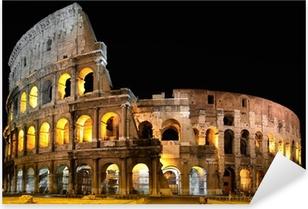 Colosseo a Roma di notte Pixerstick Sticker
