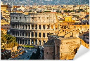 Pixerstick Sticker Colosseum bij zonsondergang