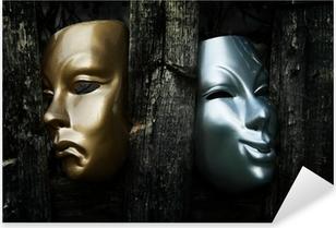 Sticker Pixerstick Comédie et tragédie - Drama Théâtre Masques