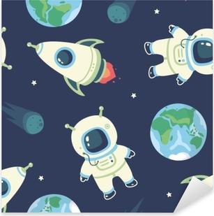 cosmonaut Pixerstick Sticker