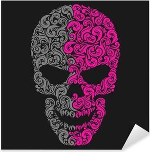 Sticker Pixerstick Crâne cru