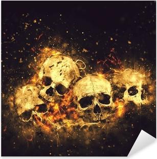Sticker Pixerstick Crânes et des os