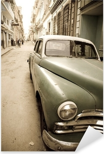 Cuban antique car Pixerstick Sticker