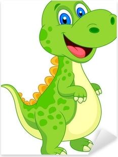 Cute dinosaur cartoon Pixerstick Sticker