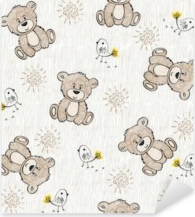 Cute hand draw seamless pattern for kids. Pixerstick Sticker