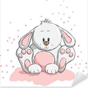 Sticker Pixerstick Cute rabbit