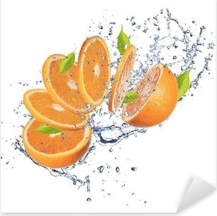Sticker Pixerstick D'orange frais