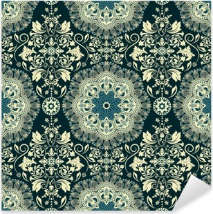 Damask seamless pattern Pixerstick Sticker
