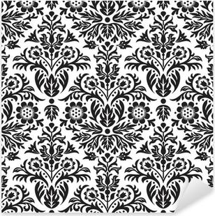 Sticker Pixerstick Damassé Seamless Floral Pattern Background