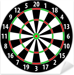 dart board Pixerstick Sticker