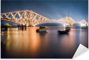 Pixerstick Sticker De Forth Road Bridge by night