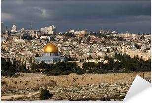 Pixerstick Sticker De heilige stad Jeruzalem van Israël