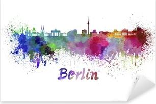 Pixerstick Sticker De horizon van Berlijn in aquarel