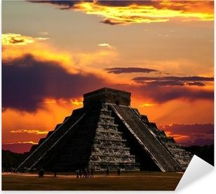 Pixerstick Sticker De tempels van Chichen Itza in Mexico