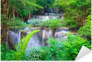 Sticker Pixerstick Deep forest Waterfall à Kanchanaburi, Thaïlande