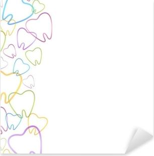 Dental Background Pixerstick Sticker