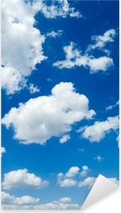 Sticker Pixerstick Des nuages blancs dans le ciel bleu. Cloudscape