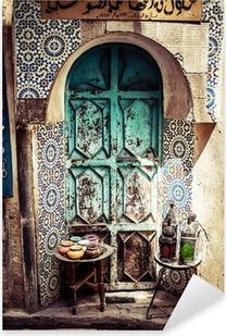 Detail of the beautiful tile mosaic decoration,Fez,Morocco Pixerstick Sticker