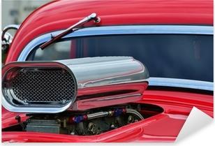 Pixerstick Sticker Detail van de luchtinlaat en voorruit op aangepaste auto