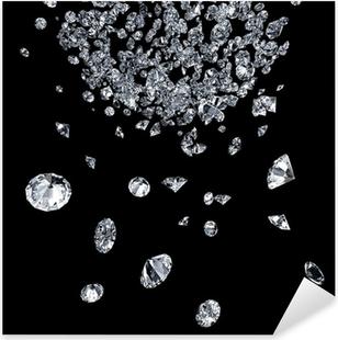 Sticker Pixerstick Diamants sur fond noir