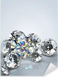 Diamond jewel isolated Pixerstick Sticker