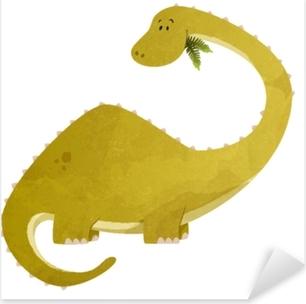 Sticker Pixerstick Diplodocus pour enfant