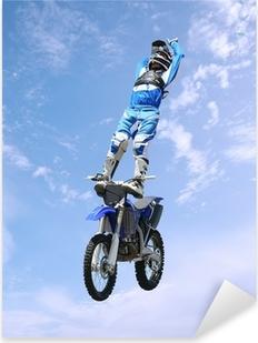 dirt bike stunt rider Pixerstick Sticker