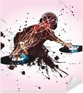 Sticker Pixerstick DJ Disco