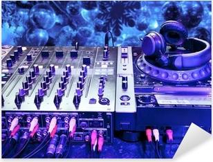 Pixerstick Sticker Dj mixer met een koptelefoon