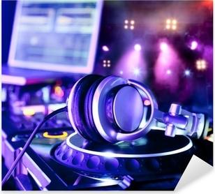 Dj mixer with headphones Pixerstick Sticker
