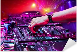 Dj playing the track Pixerstick Sticker