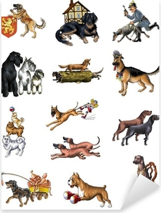 dogs Pixerstick Sticker