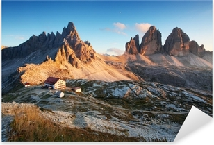 Dolomites mountain panorama in Italy at sunset - Tre Cime Pixerstick Sticker