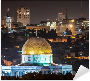 Dome of the Rock at night Pixerstick Sticker
