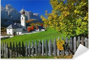 Pixerstick Sticker Dorp in herfst Zuid-Tirol