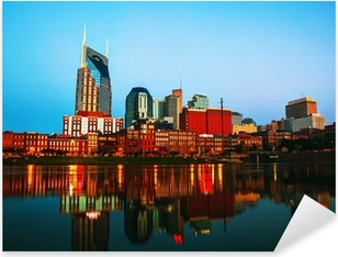 Downtown Nashville cityscape in the morning Pixerstick Sticker