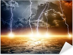 Dramatic apocalyptic background Pixerstick Sticker