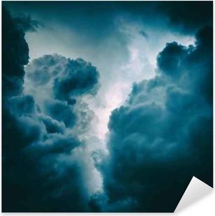 Sticker Pixerstick Dramatique de fond nuages