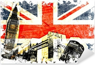 drapeau anglais decoupe Pixerstick Sticker