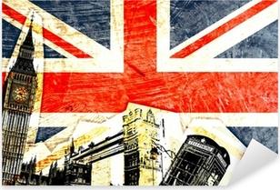 drapeau anglais Pixerstick Sticker