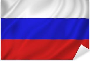 Sticker Pixerstick Drapeau de la Russie