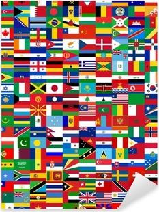 Drapeaux du Monde/Flags of the World Pixerstick Sticker