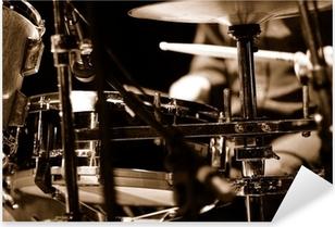 Pixerstick Sticker Drummer op het podium