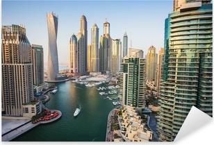 Pixerstick Sticker Dubai Marina, Verenigde Arabische Emiraten.