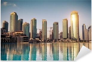 Dubaï ville Pixerstick Sticker